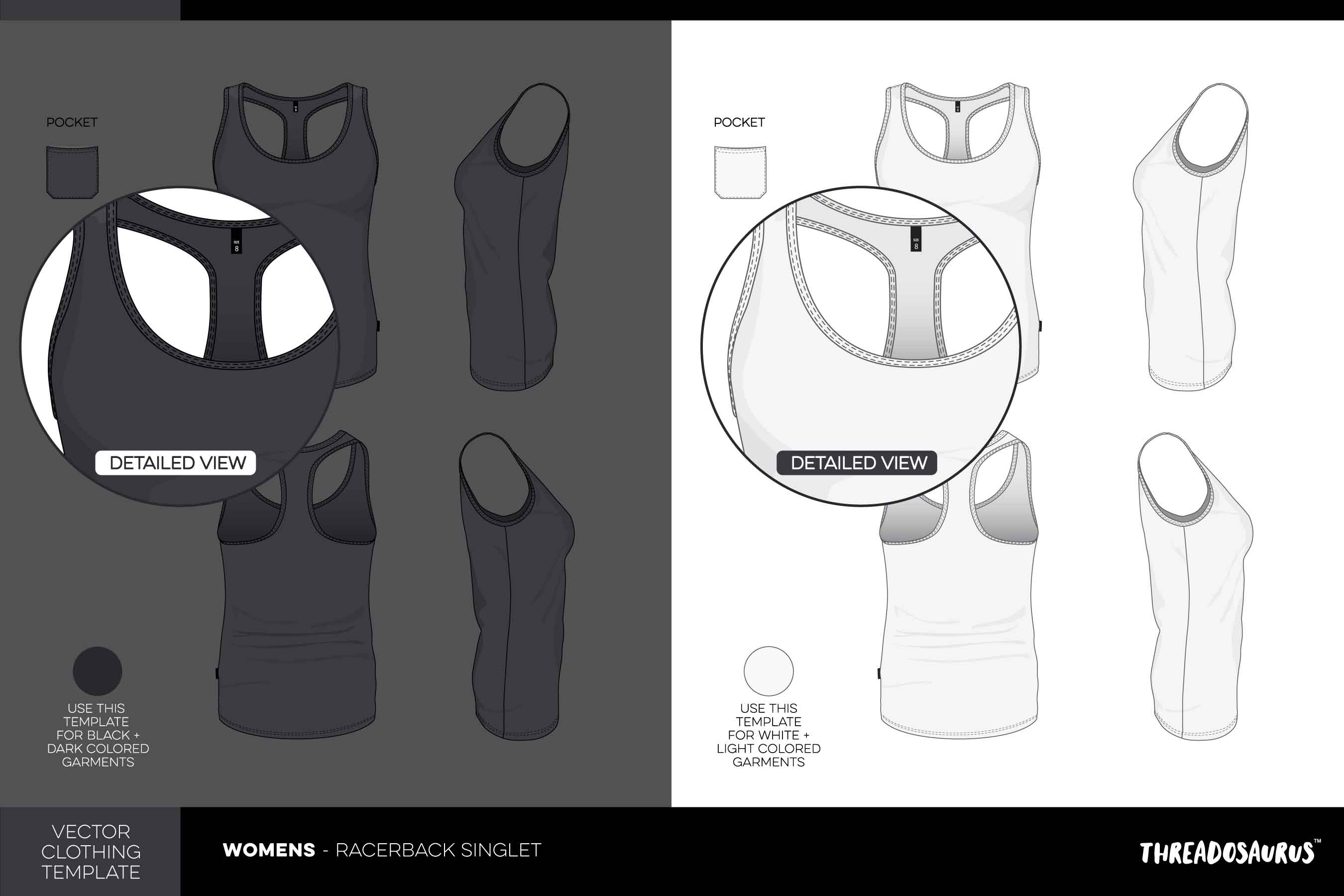 Womens-racerback-singlet-template-vector-pack
