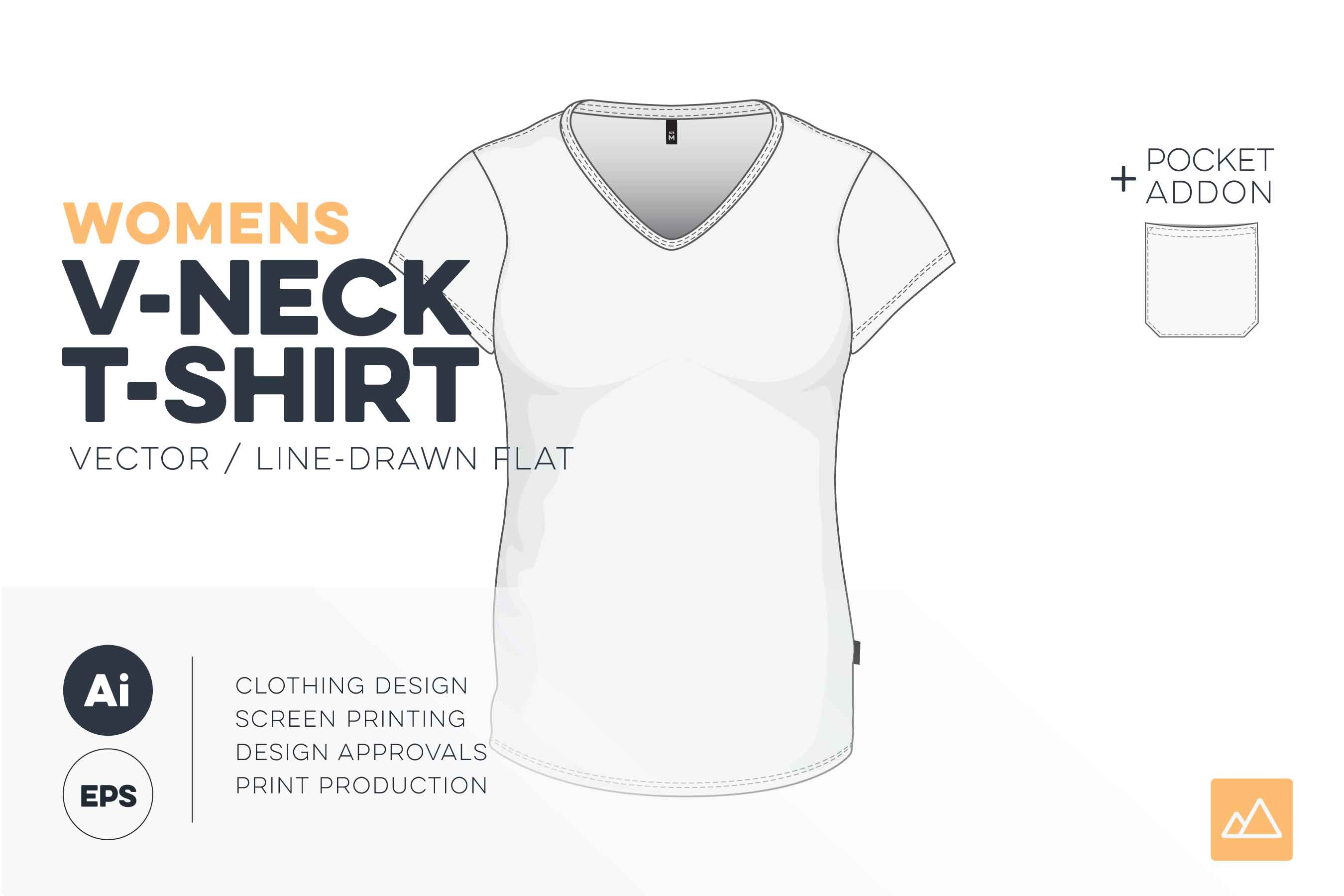 Womens v-neck t-shirt template vector pack HERO