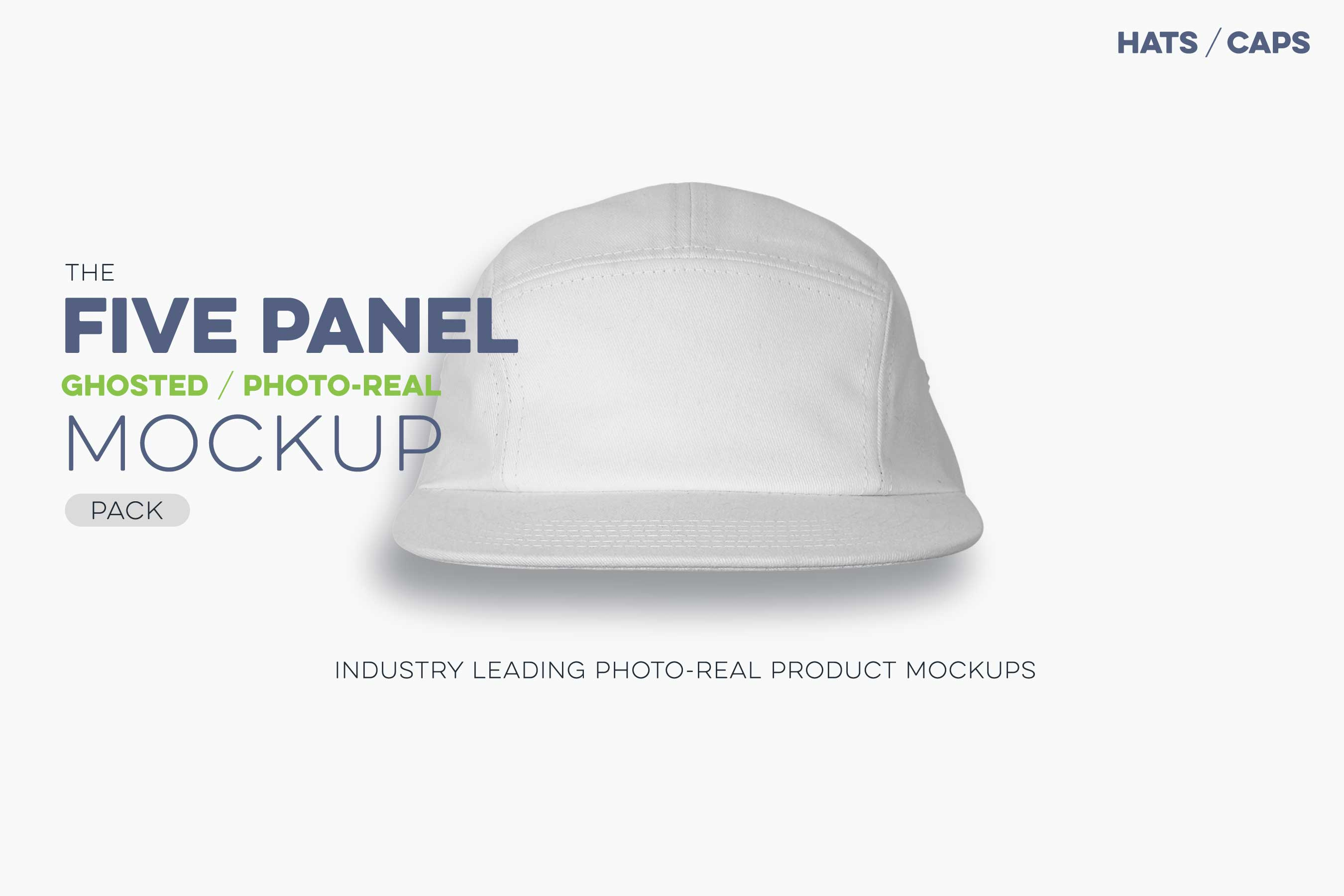 five panel cap mockup 5 panel template N