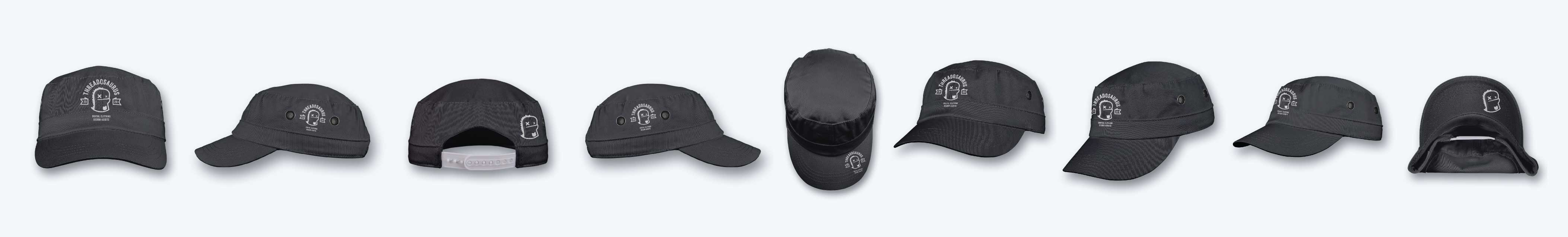 ghosted military cap mockup photoshop front back side angled