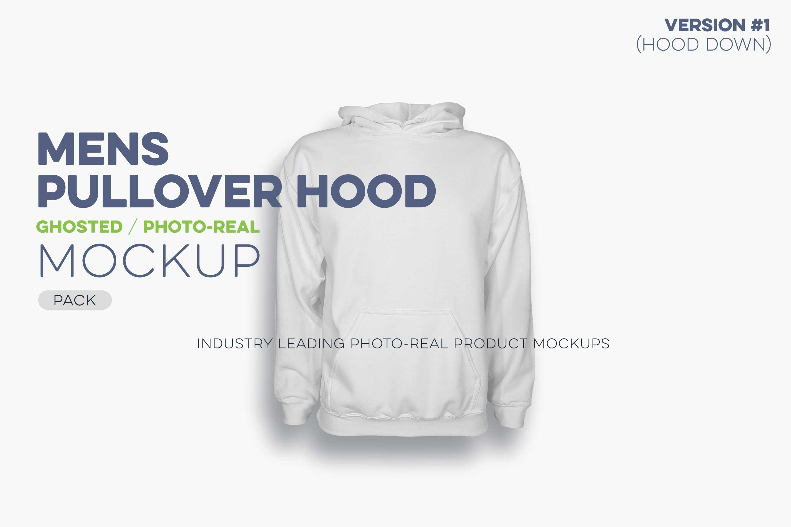 mens ghosted pullover hoodie mockup HD template N