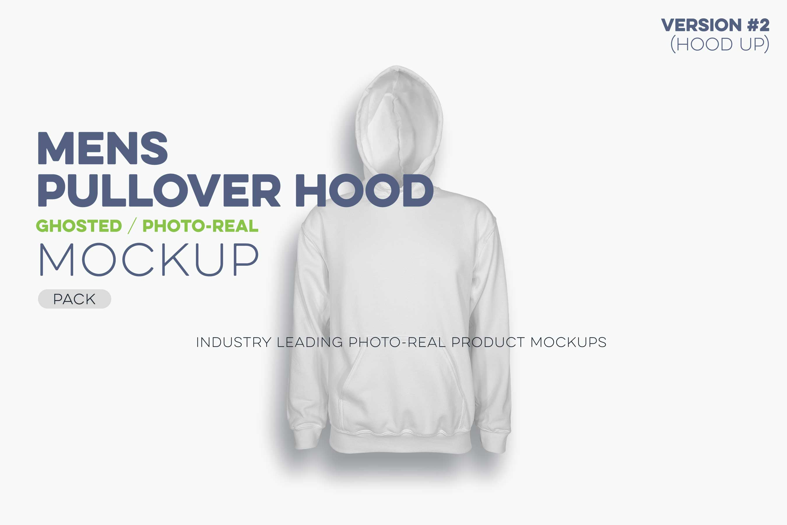 mens ghosted pullover hoodie mockup template UP N