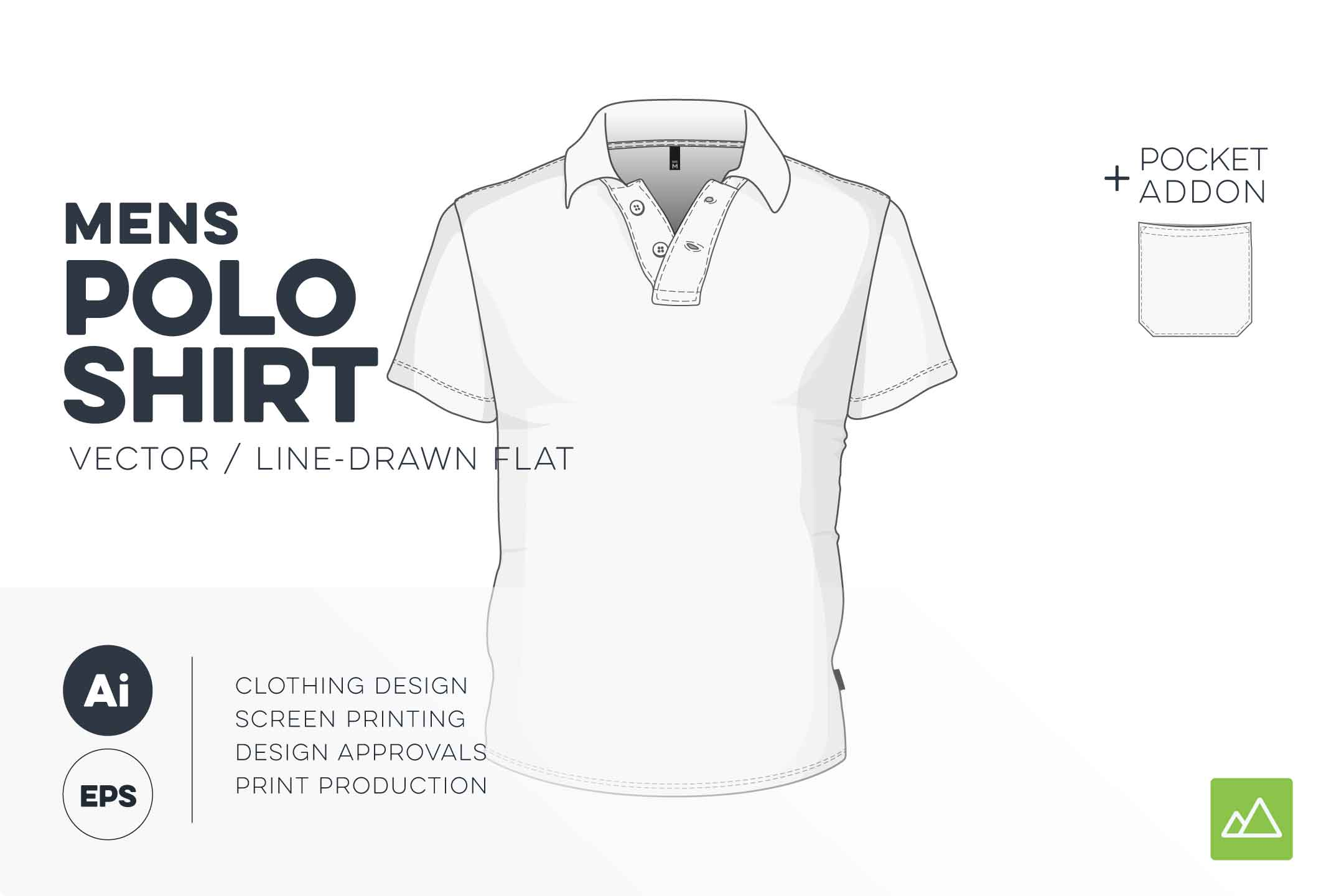 Mens polo shirt template vector pack