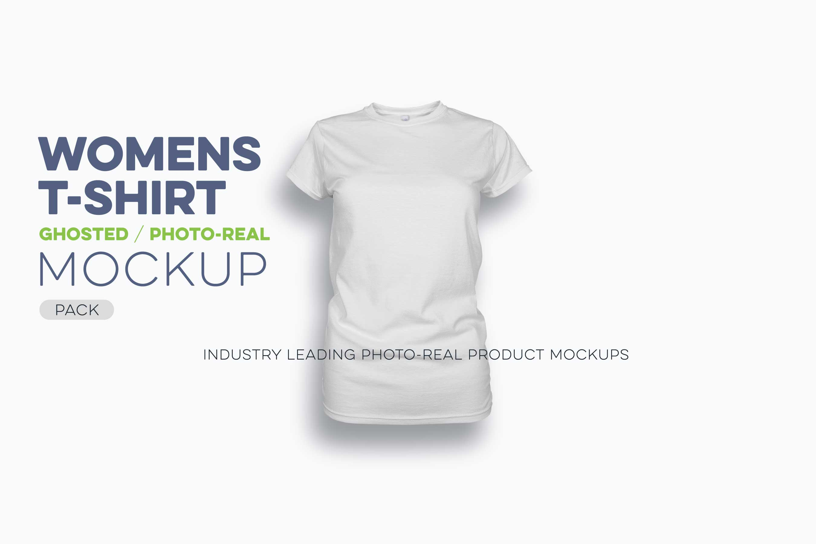 womens ghosted t-shirt mockup pack N
