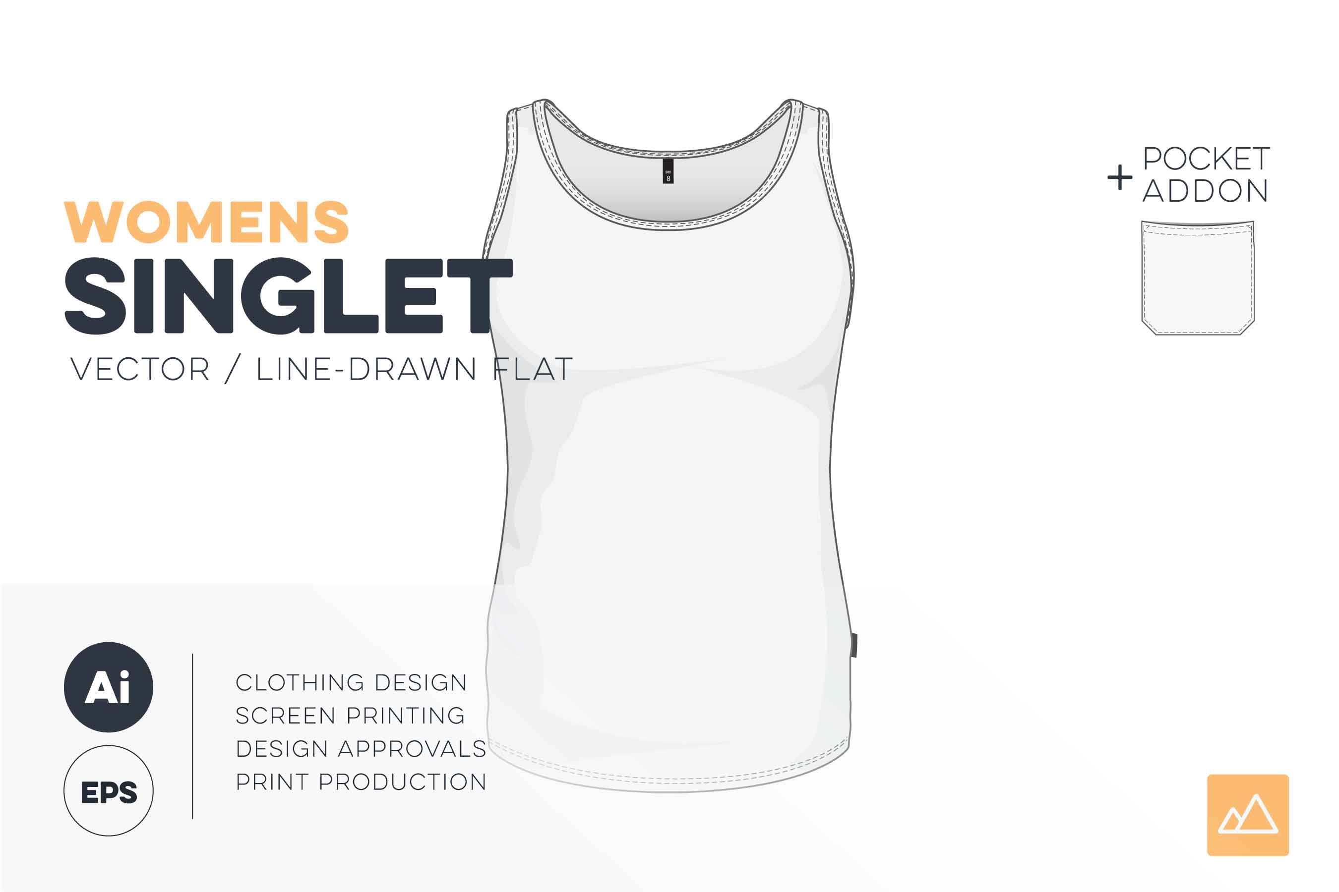 womens singlet template vector pack